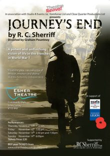 ESHER THEATRE, Surrey, November 11th, 12th and 14th at 7:30pm and November 13th at 2:30pm and 7:30pm